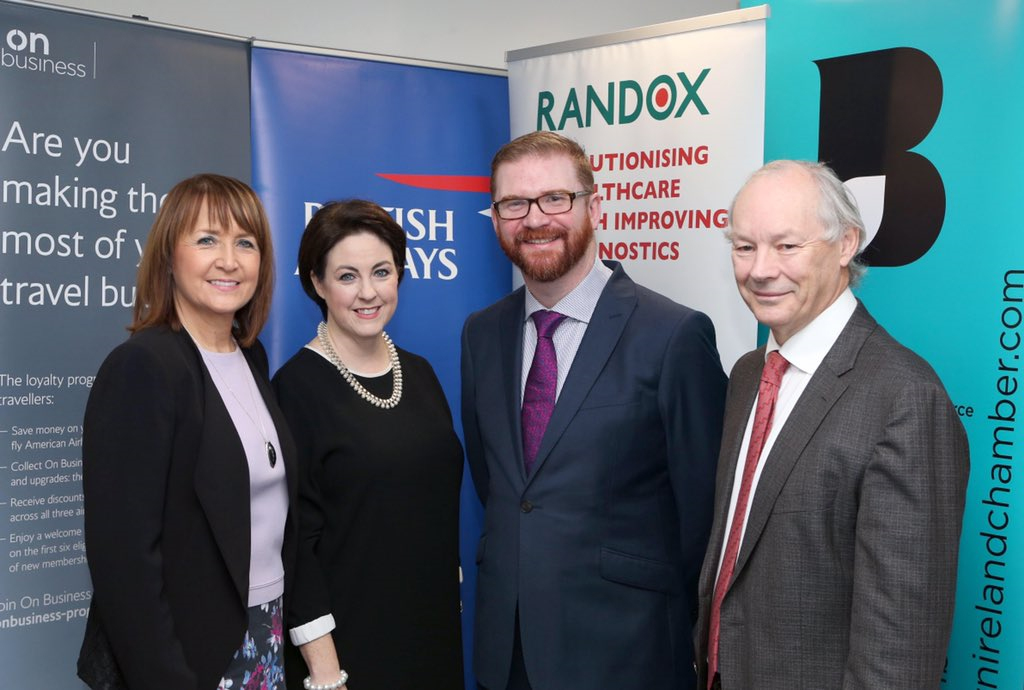 Randox hosts Health Minister Simon Hamilton at Minister on the Move Event